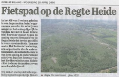 Regte Heide fietspad - Goirles Belang - 20-04-2016-2
